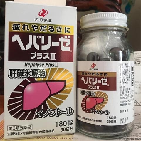 Thuốc bổ gan Nhật Bản Hepalyse Ex 180 viên