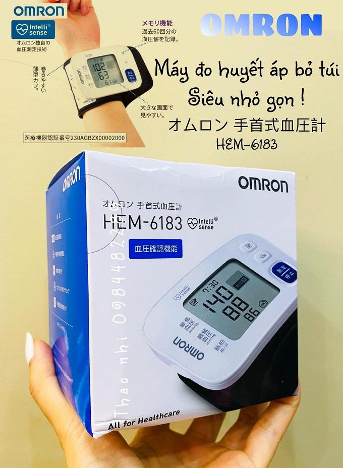 Máy đo huyết áp omron HEM-6183 Nhật Bản