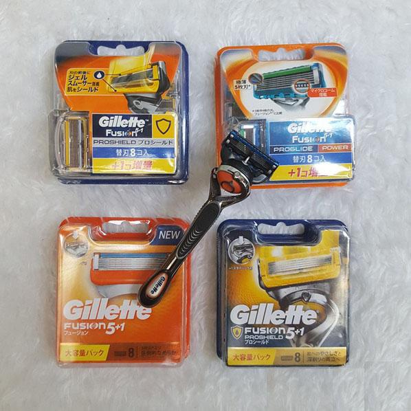 Lưỡi dao cạo dâu Gillette 5 Fusion Power chuẩn Nhật