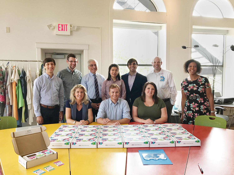 Live Well Collaborative and Cincinnati Children's CBDI Team with final ADL 123 Device Prototypes