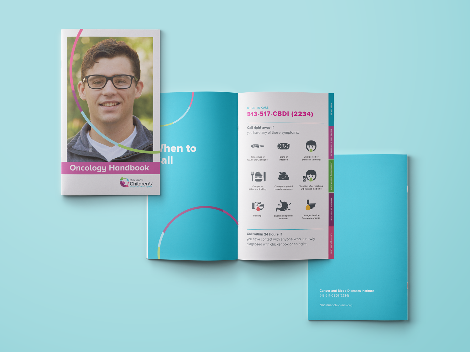 Oncology Handbook front and back covers and spread