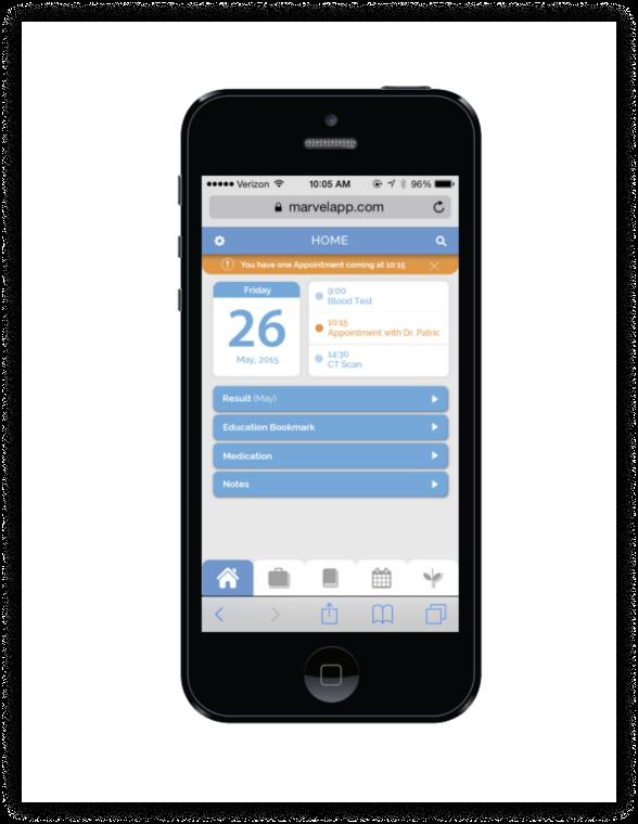 Final IMPACT App screen on an iphone