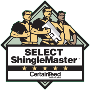 Level Edge Construction CertainTeed SELECT ShingleMaster Certification and badge