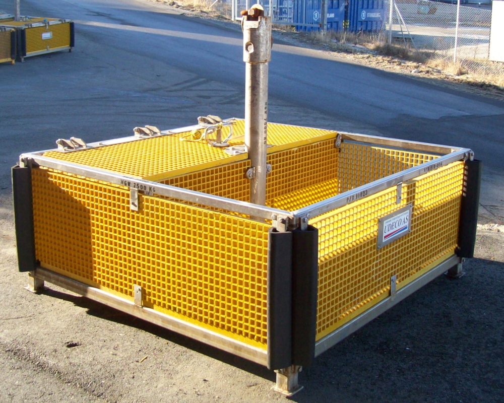 Ubas A ROV Basket in standard configuration.