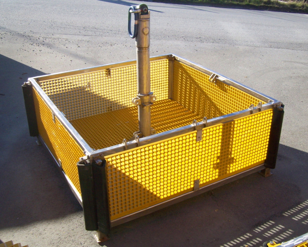 Ubas A ROV Basket in open configuration.