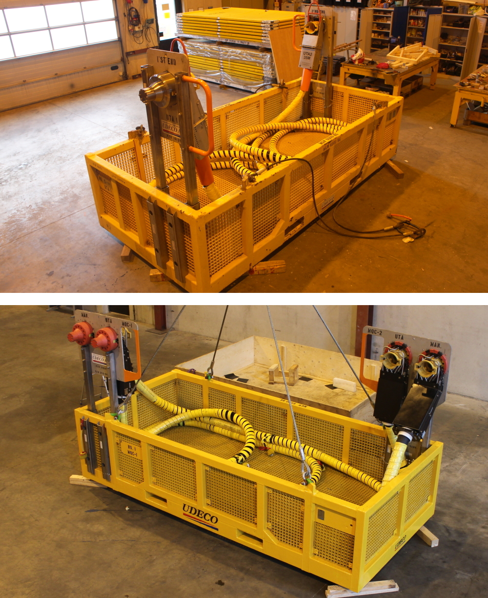 Ubas G ROV basket configured for hydraulic flying lead and jumper installation.