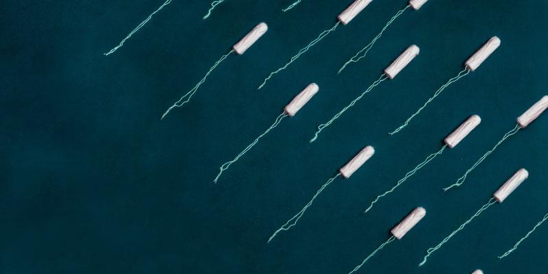 Armé de tampons en coton bio