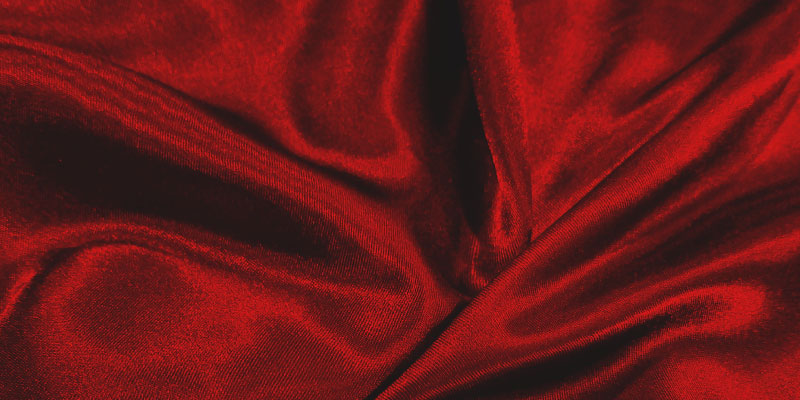 Tissu de velour rouge