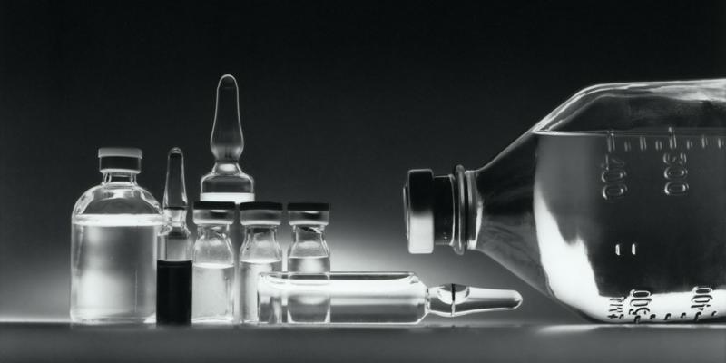 Flacon médicinales en verre