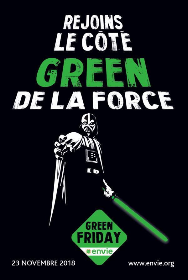 """Affiche """"Rejoins le côté Green de la force"""""""