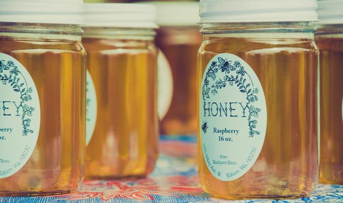 Pots de miel artisanaux