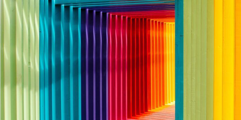 Tunnel de couleurs en Allemagne