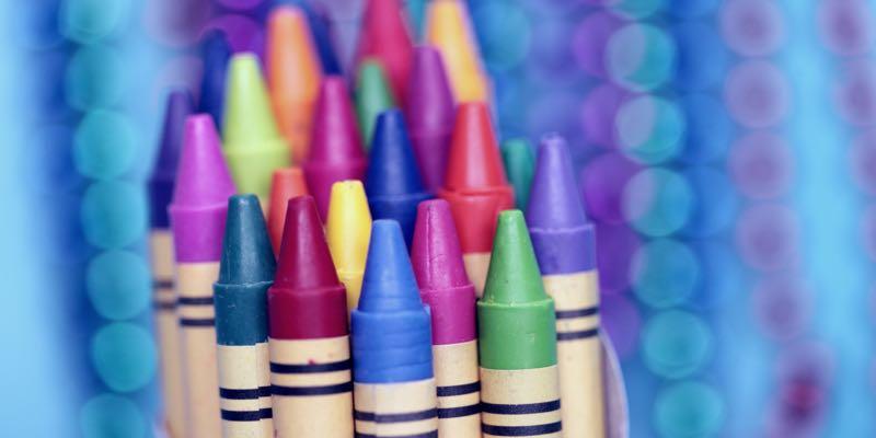 Crayons de couleur à base de cire