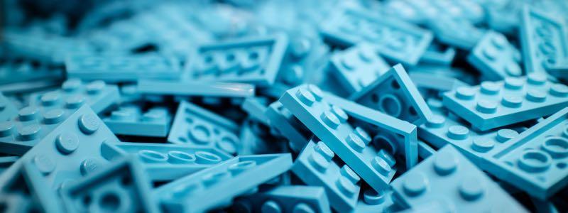 Blocs de Lego bleus