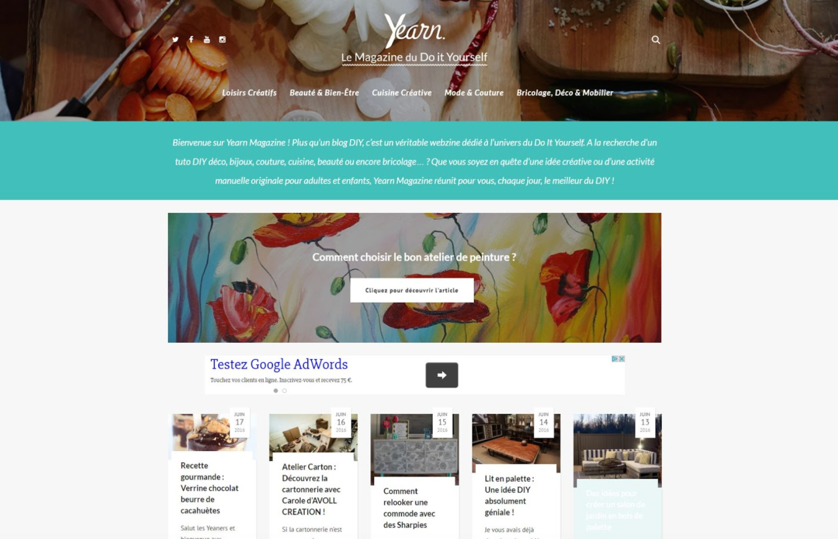 Vincent Redor first web magazine called Yearn Magazine dedicated to DIY practices