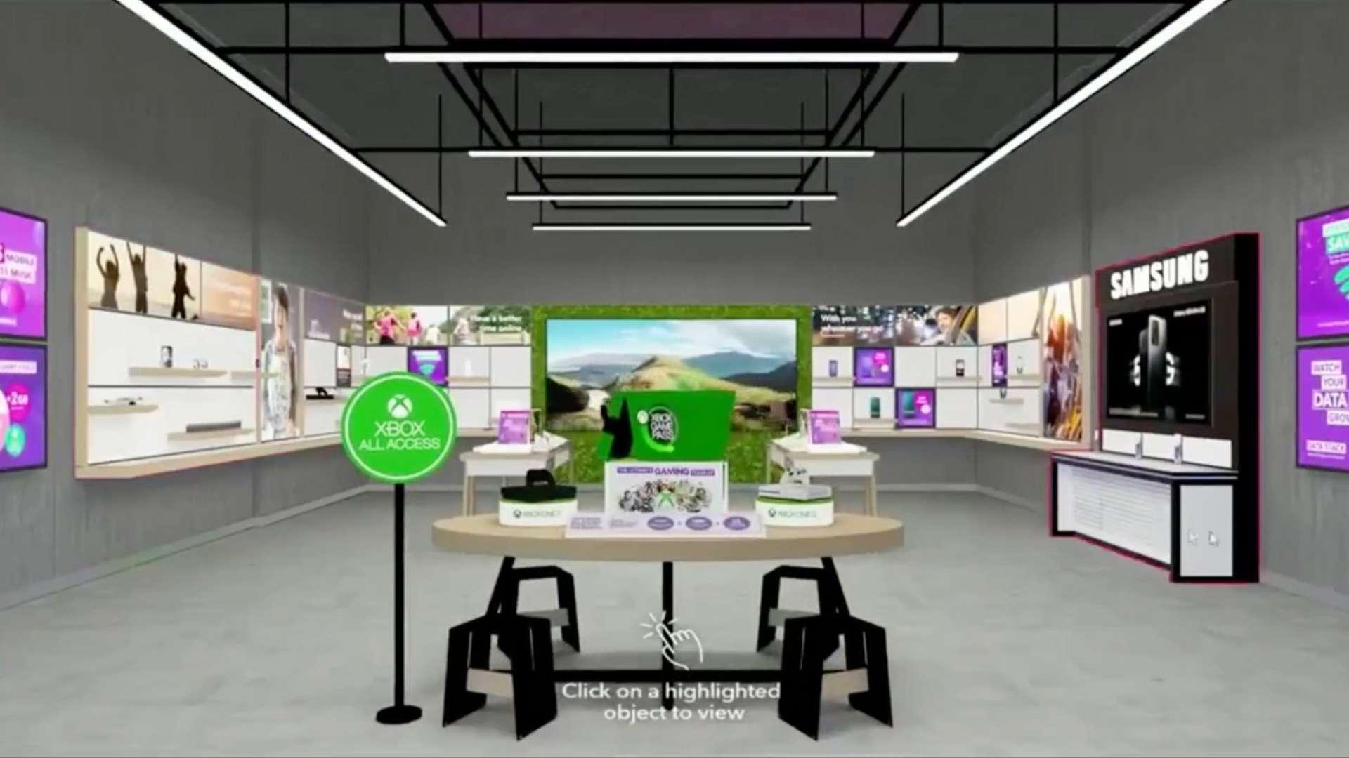 virtuele interactieve 3D winkel