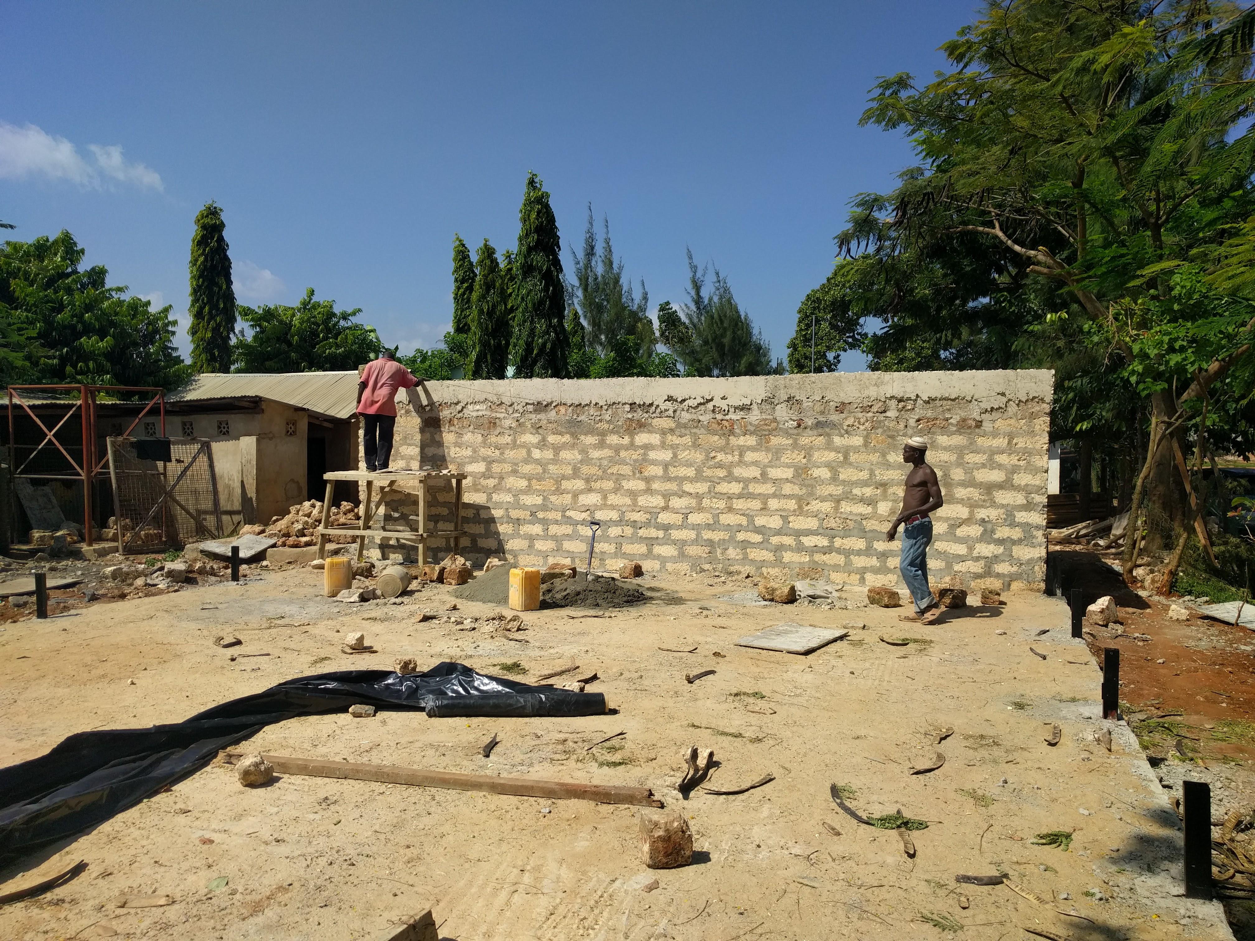 Destiny Garden School construction site Kenya Mombasa