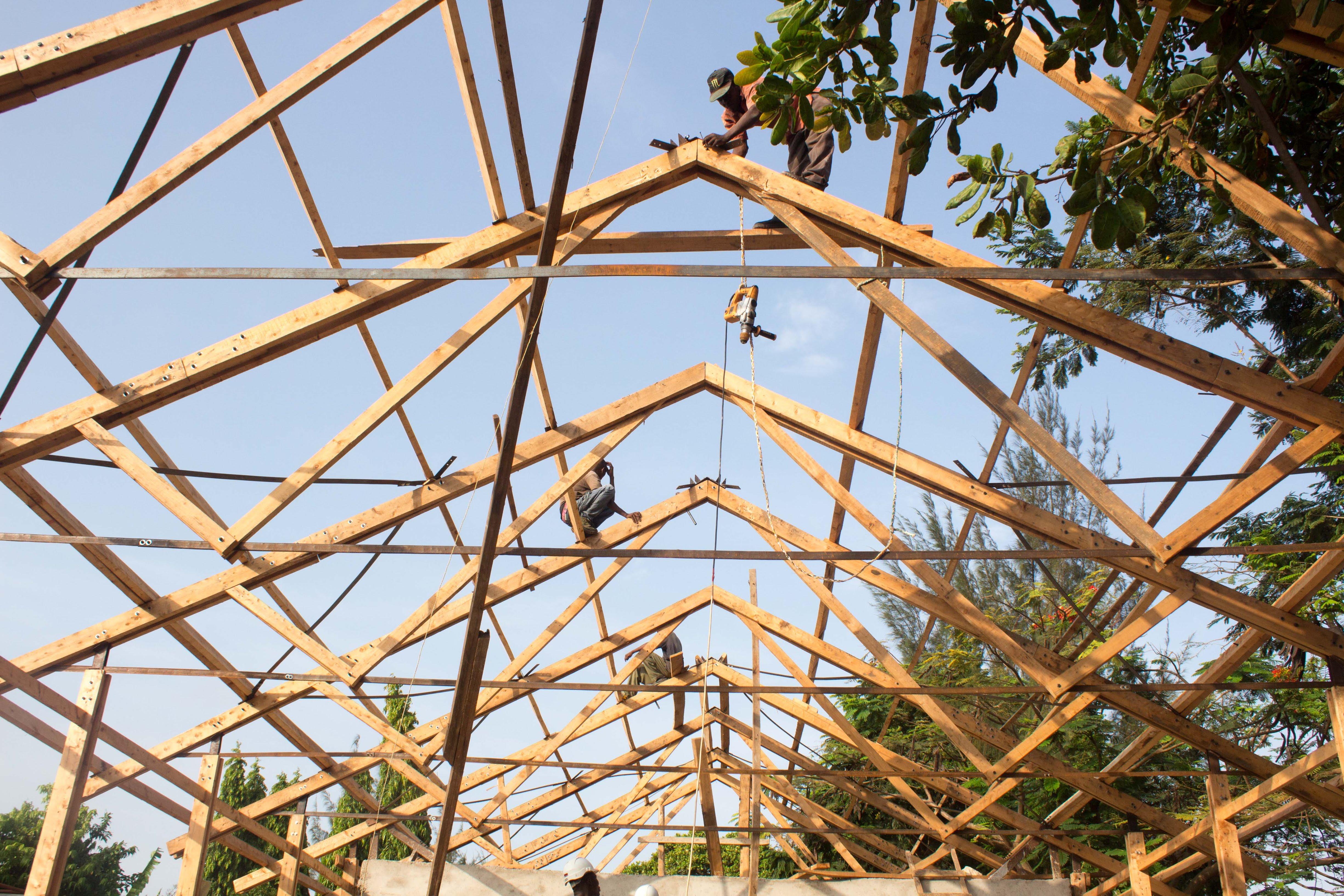 destiny garden school timber roof structure kenya engineering architecture