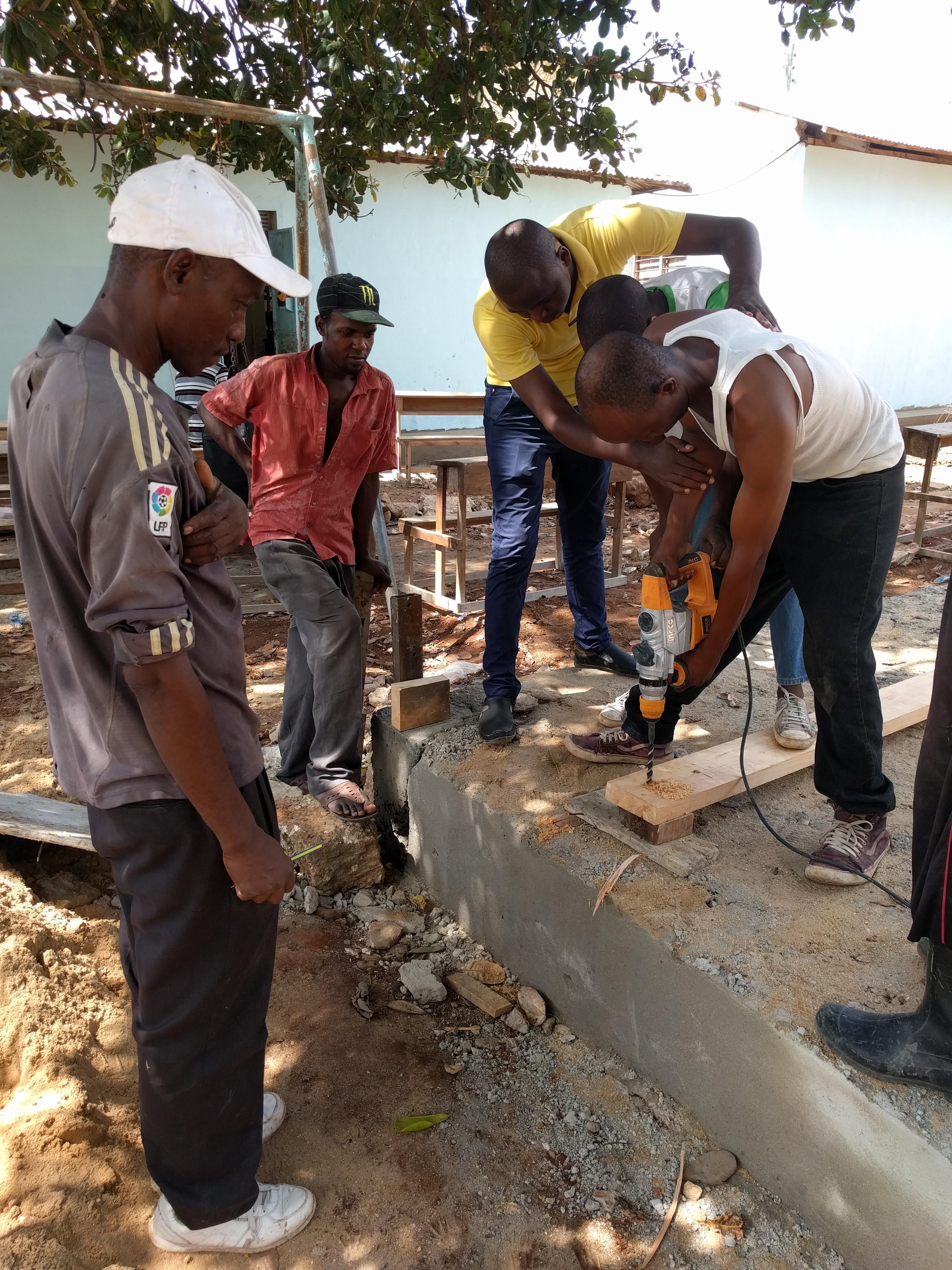Destiny garden school charity project drill kenya construction