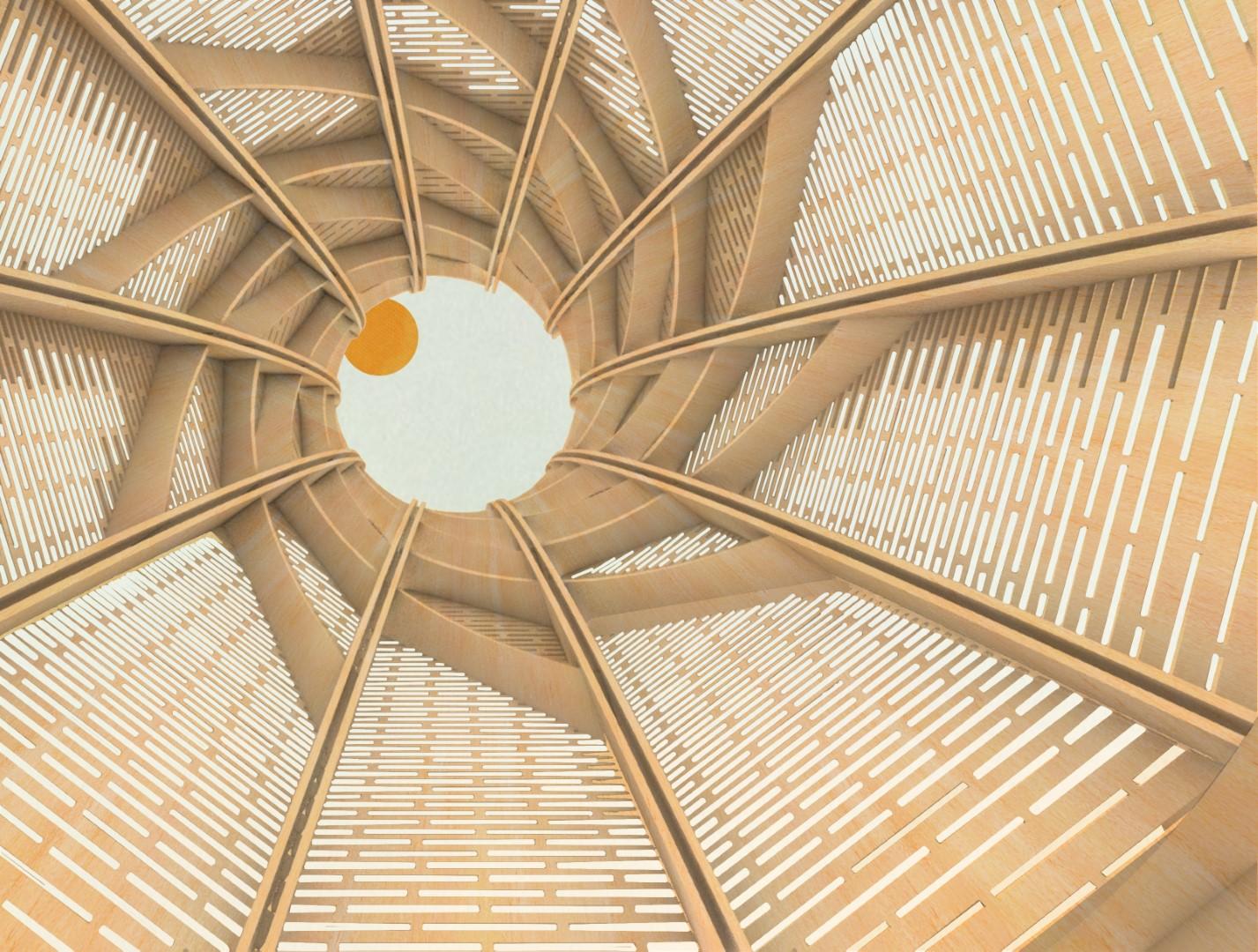 ew tower spiral CNC architecture