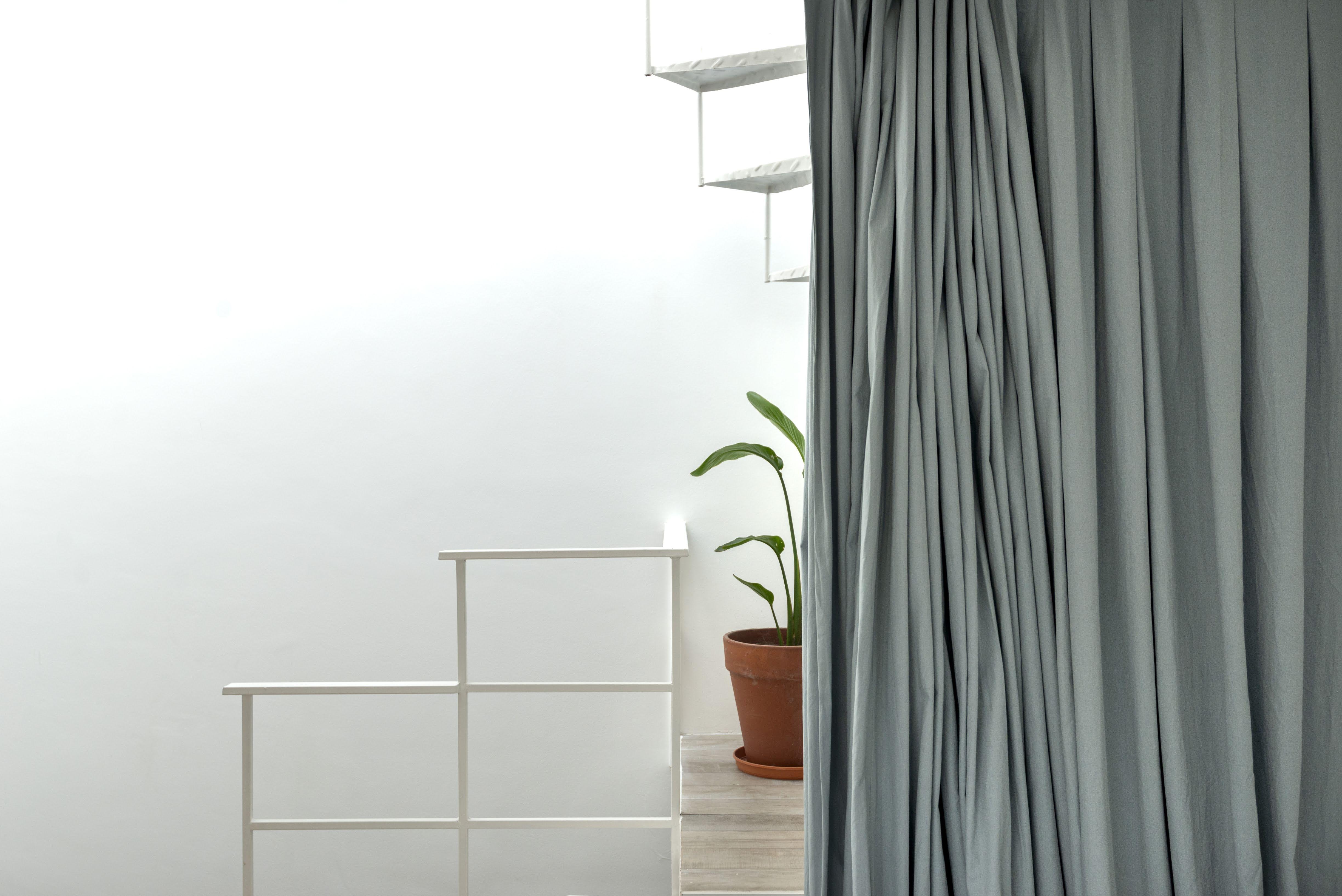refurbishment airbnb buenos aires interior design curtain staircase