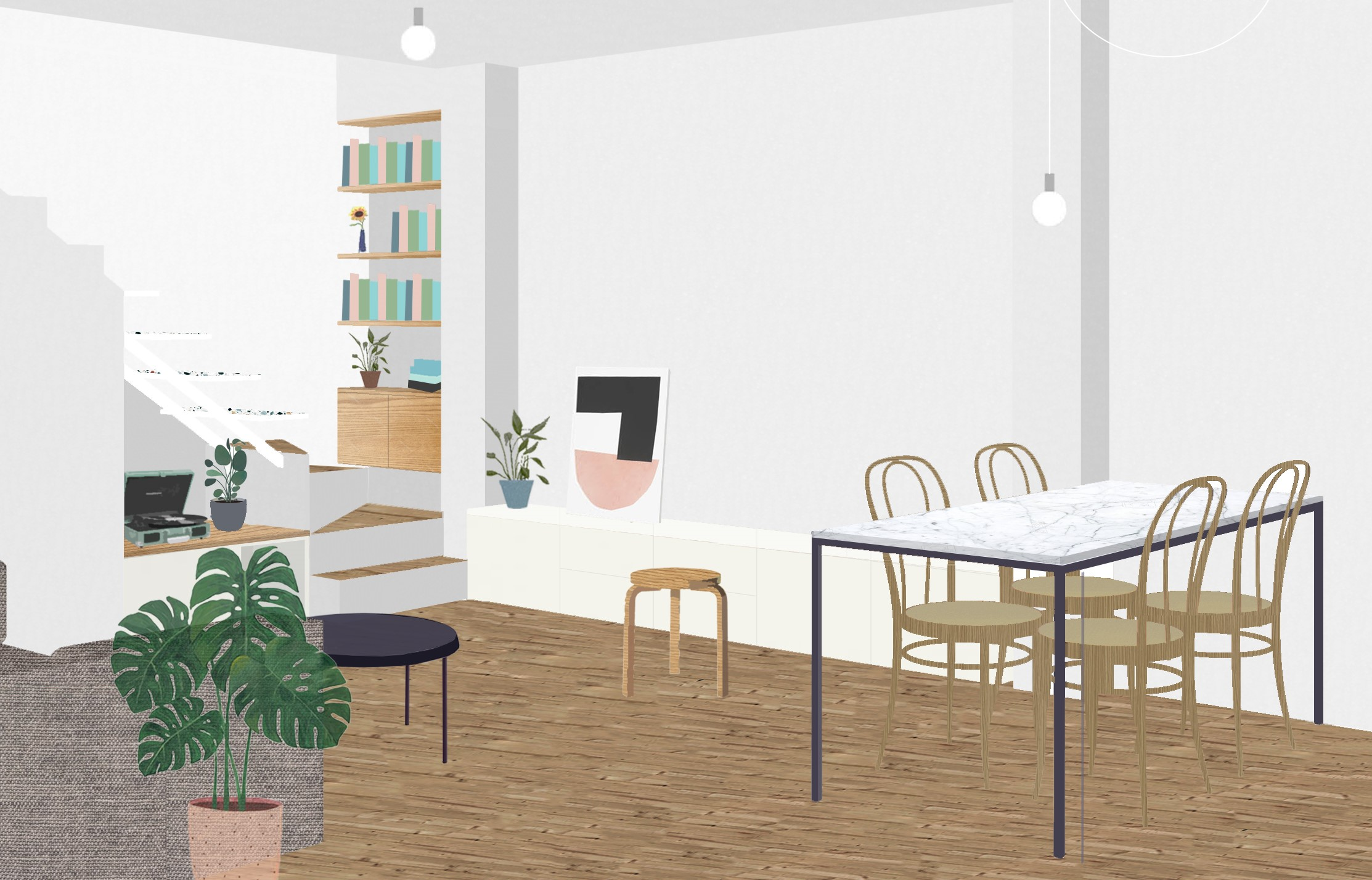 architecture render atmosphere interior render living room