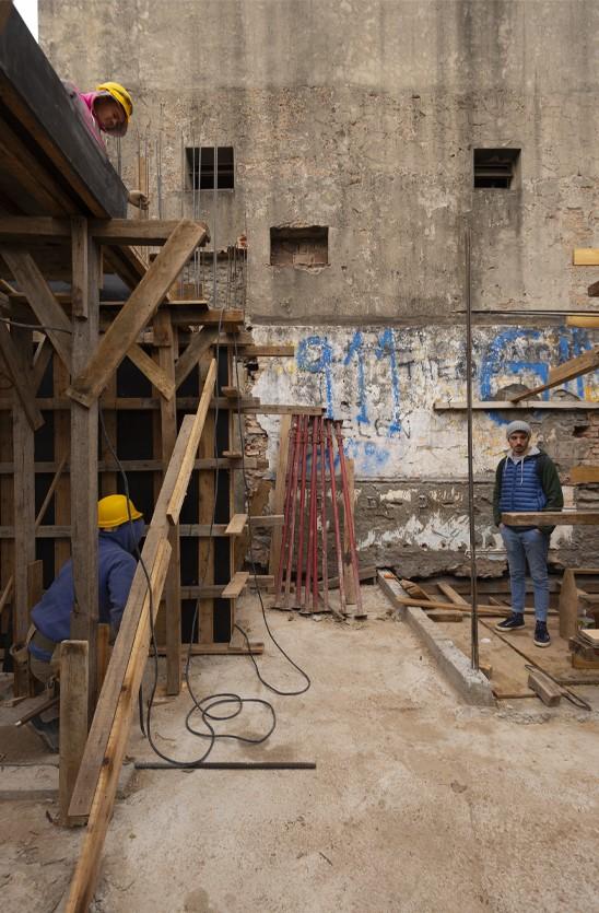 Palermo architecture construction site formwork concrete structure