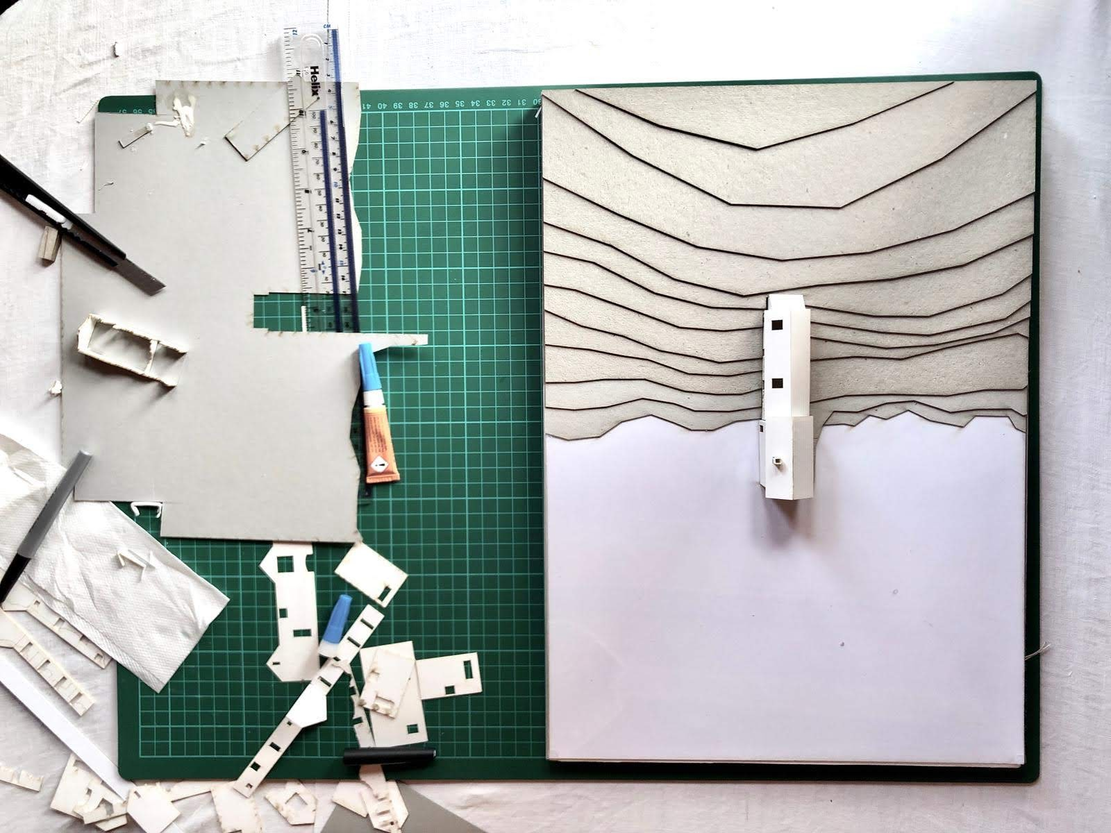 architectural physical model the collective a foam board laser cut