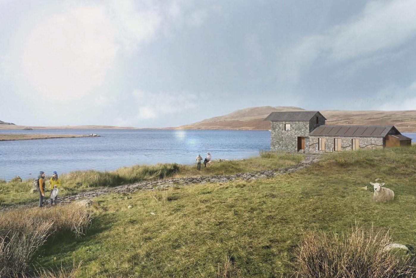 architectural render the collective a devoke water boathouse design corten heritage