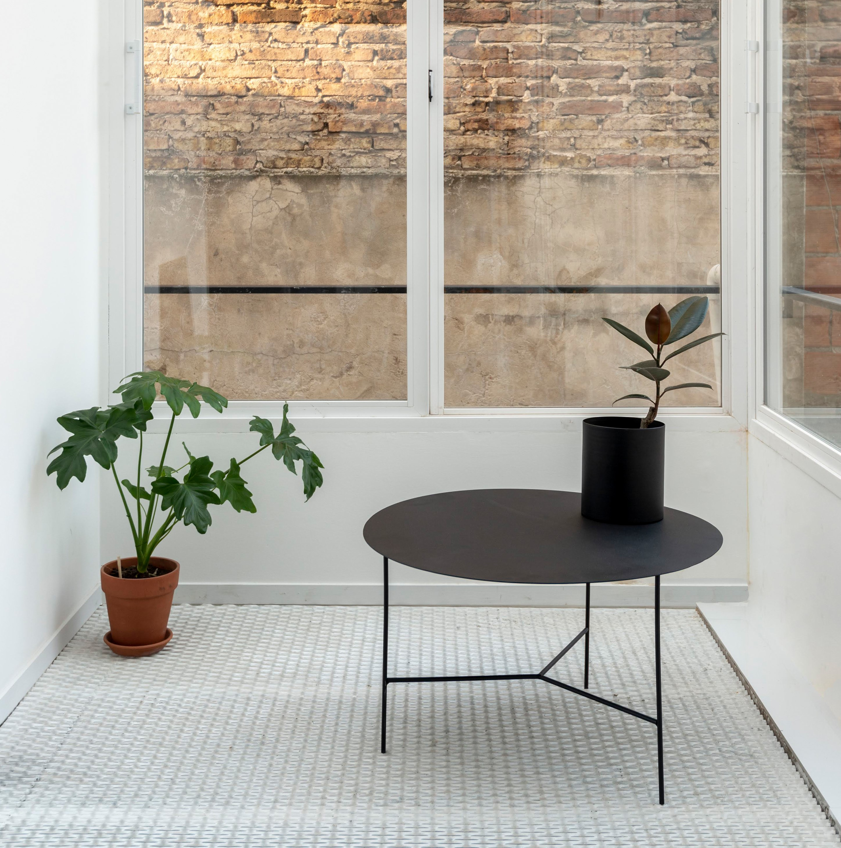 plant pot table interior design furniture steel plate green decoration the collective a