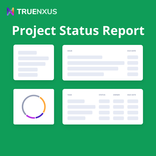 Google Sheets Project Status Report