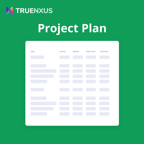 Google Sheets Project Plan