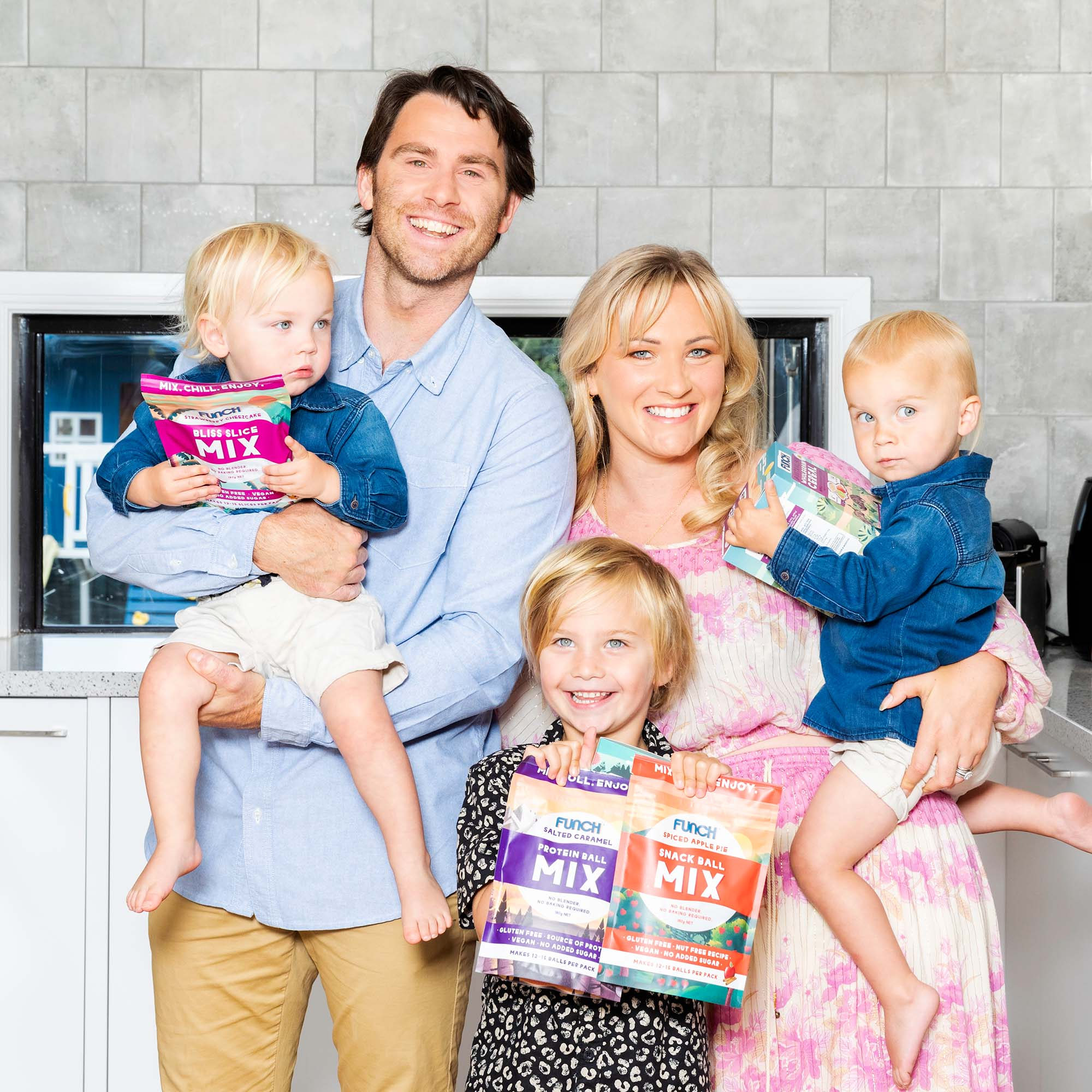 Rees family with Funch products