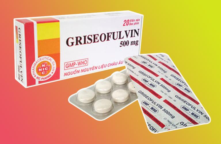Thuốc kháng nấm tổ đỉa Griseofulvin