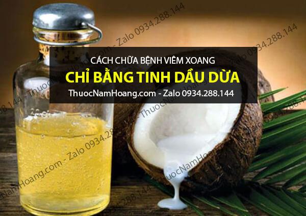 Điều trị viêm xoang bằng dầu dừa