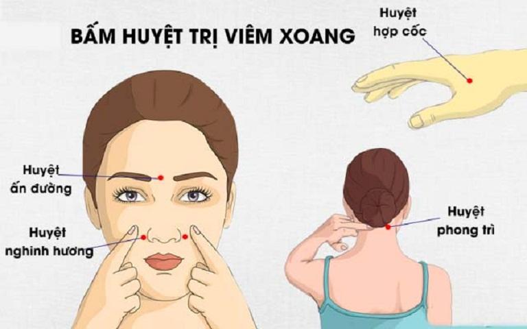 Bấm huyệt lỗ mũi trị viêm xoang