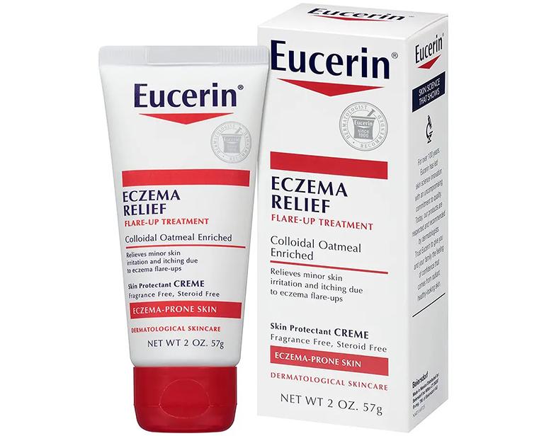 Kem Eucerin Eczema Relief được bác sĩ khuyến cáo sử dụng trị chàm sữa