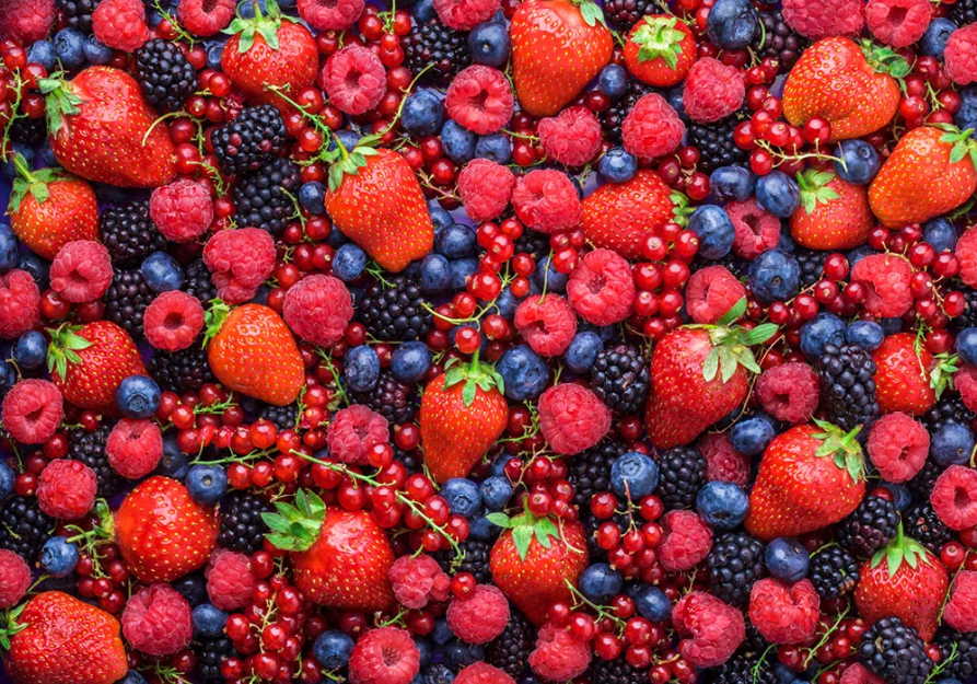 Giảm bụng bự bằng Trái berries an toàn
