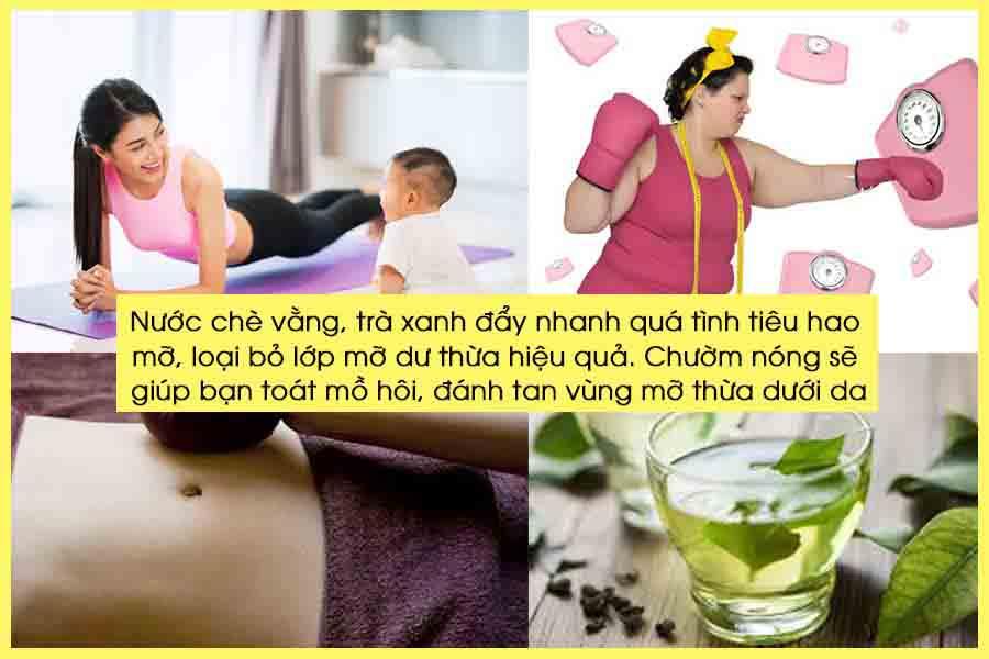 Uống nước chè vằng, trà xanh hằng ngày giảm cân