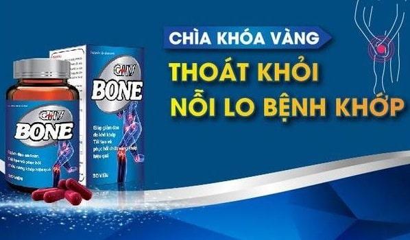 Thuốc GHV BONE khám đau nhức xương khớp với CN bột đạm thủy phân