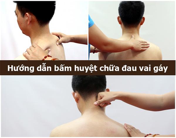Cách xoa bóp bấm huyệt chữa đau vai gáy tại nhà