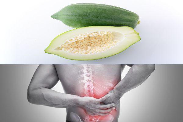 chữa đau lưng bằng đu đủ