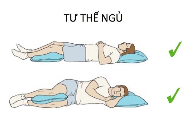Ngủ đúng cách giảm đau lưng hiệu quả