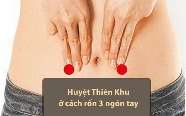 bấm Huyệt Thiên khu giảm đau lưng