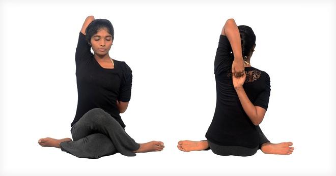 Bài tập co duỗi hai vai chữa đau vai gáy
