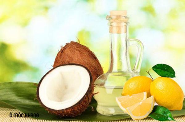 Dầu dừa kết hợp với nước chanh trị viêm da cơ địa