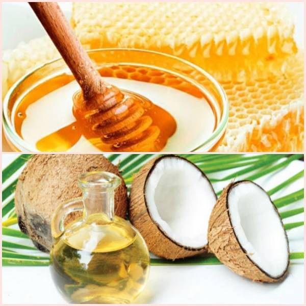 trị viêm da cơ địa Dầu dừa kết hợp với mật ong