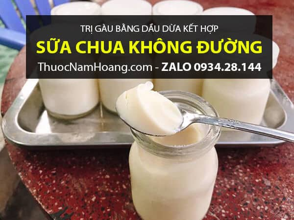 Dầu Dừa với Sữa Chua trị gàu