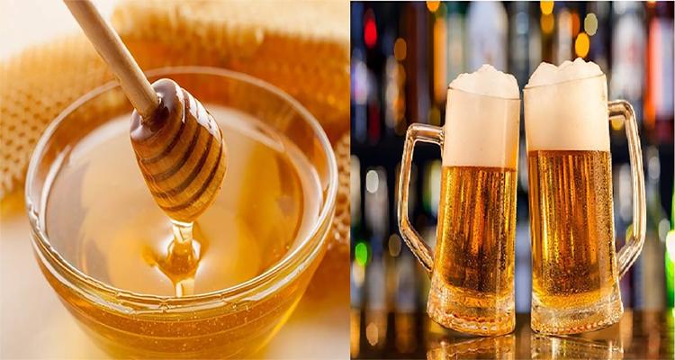 Dùng bia và mật ong trị gàu