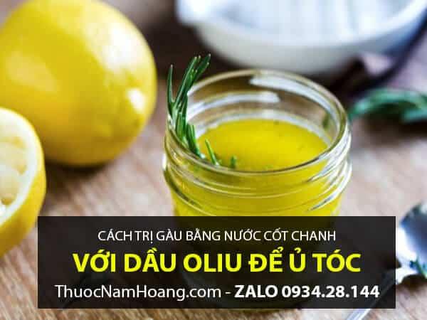 Cách điều trị gàu bằng chanh + dầu oliu